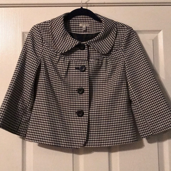 Semantiks Jackets & Blazers - Houndstooth Cropped Jacket